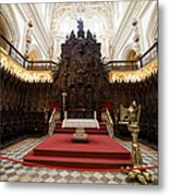 Mezquita Cathedral Interior In Cordoba Metal Print