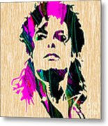 Michael Jackson Painting Metal Print