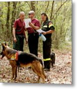 Mountain Rescue Workers Metal Print