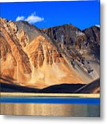 Mountains Pangong Tso Lake Leh Ladakh Jammu And Kashmir India Metal Print