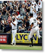 Oakland Athletics v New York Yankees Metal Print