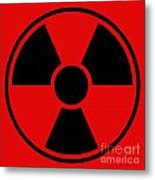 Radiation Warning Sign Metal Print