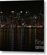 San Diego Skyline Night Metal Print