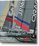 San Francisco Sailboat Racing Metal Print