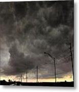 Severe Warned Nebraska Storm Cells Metal Print