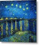 Starry Night Over The Rhone Metal Print