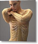 The Skeletal System Female Metal Print