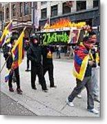 Tibetan Protest March Metal Print
