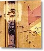 Train Art Abstract Metal Print