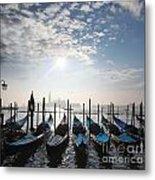 Venice With Gondolas Metal Print