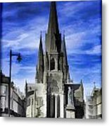 View Of Episcopal Cathedral In Edinburgh Metal Print