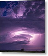 Wicked Good Nebraska Supercell Metal Print