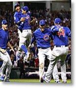 World Series - Chicago Cubs V Cleveland 8 Metal Print