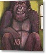 800 Pound Gorilla In The Room Edit 4 Metal Print