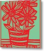 Worship Excelsior Flowers Red Green Blue Metal Print