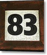 #83 Metal Print