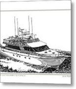 85 Foot Custom Nordlund Motoryacht Metal Print by Jack Pumphrey