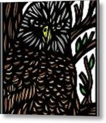 Mitzner Eagle Hawk Green Black Brown Metal Print