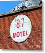87 Motel Metal Print