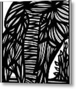 Cubr Elephant Black And White Metal Print