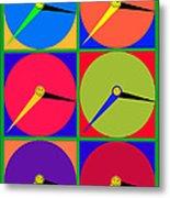 879 - Three Thirty - Eight Pop Clocks Metal Print