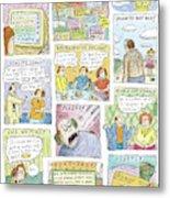 New Yorker April 13th, 2009 Metal Print