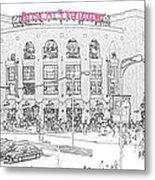 8th And Clark Busch Stadium Sketch Metal Print