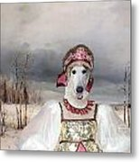 Borzoi - Russian Wolfhound Art Canvas Print Metal Print