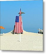 9-11 Beach Memorial Metal Print