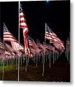 9-11 Flags Metal Print