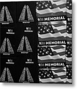 9/11 Memorial For Sale In Black And White Metal Print