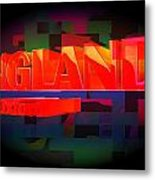 Abstract Text Metal Print