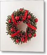 Advent Christmas Wreath  Metal Print