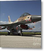 An F-16c Barak Of The Israeli Air Force Metal Print