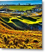 #9 At Chambers Bay Golf Course - Location Of The 2015 U.s. Open Tournament Metal Print by David Patterson