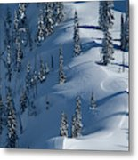 Backcountry Ski Traverse In Glacier Metal Print