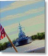 Battleship North Carolina Metal Print