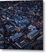 Belfast At Night, Northern Ireland Metal Print