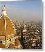 Brunelleschi's Dome At The Florence Cathedral  Metal Print