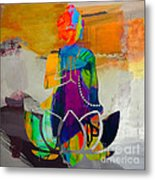 Buddah On A Lotus Metal Print