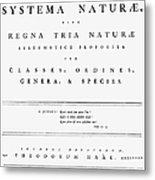 Carolus Linnaeus (1707-1778) Metal Print