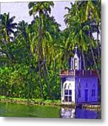 Church Located Next To A Canal Metal Print
