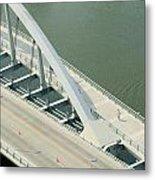 Fx1l-878 Main Street Bridge Columbus Ohio Photo Metal Print