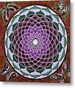 Cosmic Flower Mandala 6 Metal Print