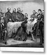 Death Of Lincoln, 1865 Metal Print
