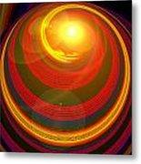 Red Energy-spiral Metal Print
