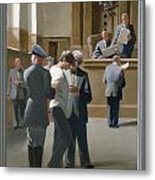 9. Jesus Before The Magistrate / From The Passion Of Christ - A Gay Vision Metal Print