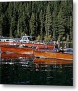Lake Tahoe Wooden Boats Metal Print