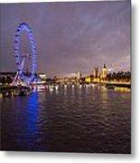 London Skyline Sunset Metal Print