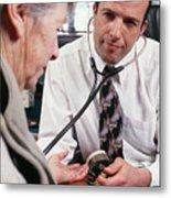Measuring Blood Pressure Metal Print